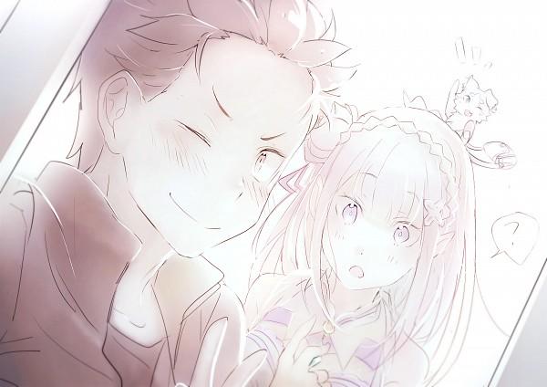 Tags: Anime, HaruSabin, Re:Zero Kara Hajimeru Isekai Seikatsu, Natsuki Subaru, Pack (Re:Zero), Emilia (Re:Zero), Fanart, Fanart From Pixiv, PNG Conversion, Pixiv, Re:zero − Starting Life In Another World