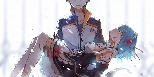 Tags: Anime, Haraguroi You, Re:Zero Kara Hajimeru Isekai Seikatsu, Rem (Re:Zero), Natsuki Subaru, Facebook Cover, Wallpaper, Re:zero − Starting Life In Another World