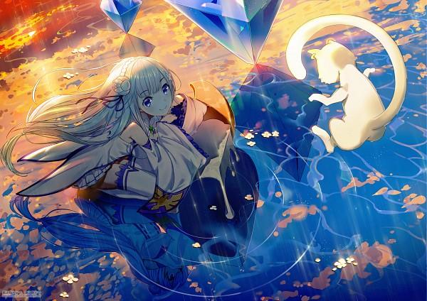 Tags: Anime, el-zheng, Re:Zero Kara Hajimeru Isekai Seikatsu, Emilia (Re:Zero), Pack (Re:Zero), Pixiv, Fanart, Fanart From Pixiv, Re:zero − Starting Life In Another World