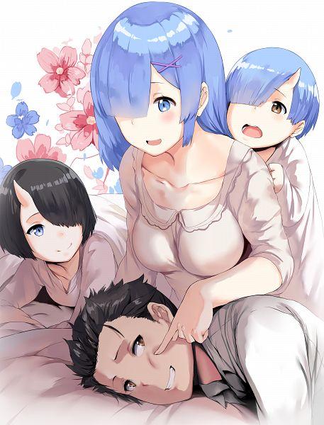 Tags: Anime, hews, Re:Zero Kara Hajimeru Isekai Seikatsu, Rem (Re:Zero), Natsuki Subaru, Poking, Re:zero − Starting Life In Another World