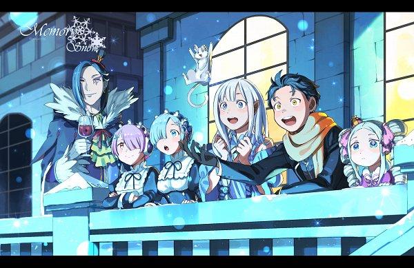 Tags: Anime, Pixiv Id 9001654, Re:Zero Kara Hajimeru Isekai Seikatsu, Re:Zero Kara Hajimeru Isekai Seikatsu: Memory Snow, Rem (Re:Zero), Natsuki Subaru, Ram (Re:Zero), Pack (Re:Zero), Beatrice (Re:Zero), Roswaal L. Mathers, Emilia (Re:Zero), Exotic Eyes, Fanart From Pixiv, Re:zero − Starting Life In Another World