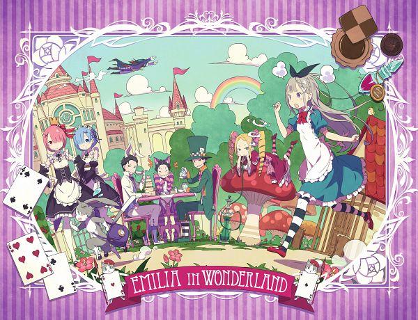 Tags: Anime, Ootsuka Shinichirou, Re:Zero Kara Hajimeru Isekai Seikatsu, Re:Zero kara Hajimeru Isekai Seikatsu Tanpenshuu, Beatrice (Re:Zero), Emilia (Re:Zero), Rem (Re:Zero), Natsuki Subaru, Ram (Re:Zero), Pack (Re:Zero), Roswaal L. Mathers, Alice (Alice in Wonderland) (Cosplay), Cheshire Cat (Cosplay)