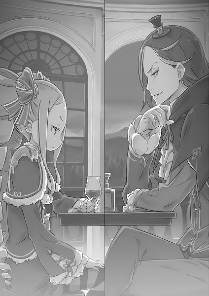 Tags: Anime, Ootsuka Shinichirou, Re:Zero Kara Hajimeru Isekai Seikatsu, Re:Zero kara Hajimeru Isekai Seikatsu Tanpenshuu, Beatrice (Re:Zero), Roswaal L. Mathers, Novel Illustration, Official Art