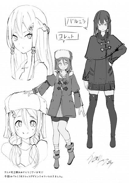 Tags: Anime, Isegawa Yasutaka, Re:Zero kara Hajimeru Isekai Seikatsu Tanpenshuu, Re:Zero Kara Hajimeru Isekai Seikatsu, Colette (Re:Zero), Palmyra (Re:Zero), Official Art, Novel Illustration