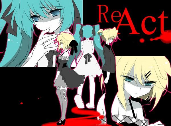 Tags: Anime, Ichiyou Moka, VOCALOID, Hatsune Miku, Kagamine Len, Kagamine Rin, Pixiv, ReAct