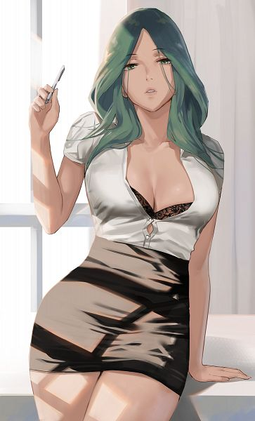 Tags: Anime, J@CK, Fire Emblem: Fuuka Setsugetsu, Rea (Fire Emblem), Office Lady Outfit, Pixiv, Fanart, Fanart From Pixiv