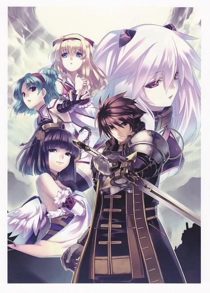 Tags: Anime, Record Of Agarest War - Heroines Visual Book, Agarest Senki Zero, Sayane (Agarest Senki Zero), Sieghart (Agarest Senki Zero), Mimel, Friedelinde, Routier