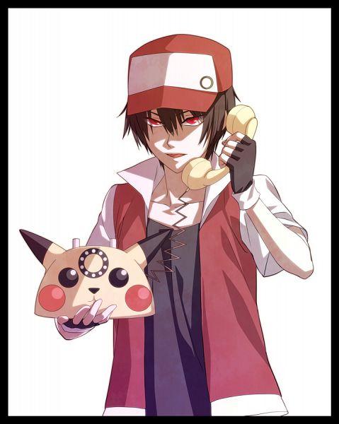 Tags: Anime, Pesu (Artist), Pokémon, Red (Pokémon), Rotary Phone, Merchandise, Pixiv, Fanart