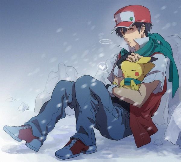 Tags: Anime, Pixiv Id 1289414, Pokémon, Red (Pokémon)