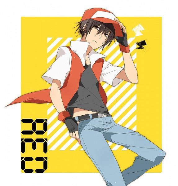 Tags: Anime, Pixiv Id 170832, Pokémon, Red (Pokémon), Fanart, Fanart From Pixiv, Pixiv