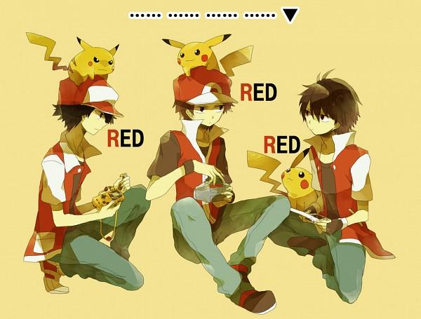 Tags: Anime, Hana / ハナ, Pokémon, Fire (Pokémon), Red (Pokémon), Pikachu, Fanart, Pixiv, Fanart From Pixiv
