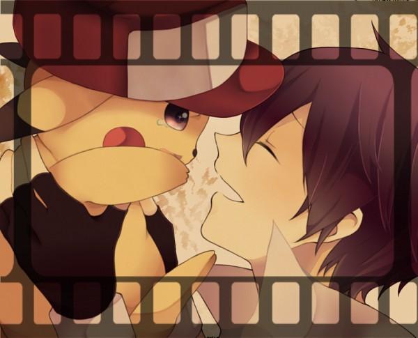 Tags: Anime, Xxtikagexx, Pokémon, Red (Pokémon), Pikachu, Pixiv, Fanart From Pixiv, Fanart