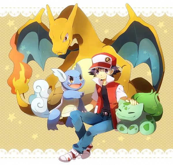 Tags: Anime, Shooting-star21, Pokémon, Bulbasaur, Red (Pokémon), Wartortle, Charizard