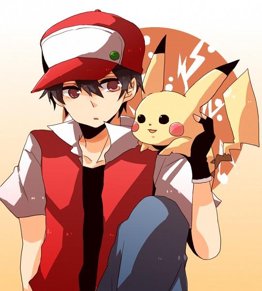 Tags: Anime, Pixiv Id 1220231, Pokémon, Red (Pokémon), Pikachu