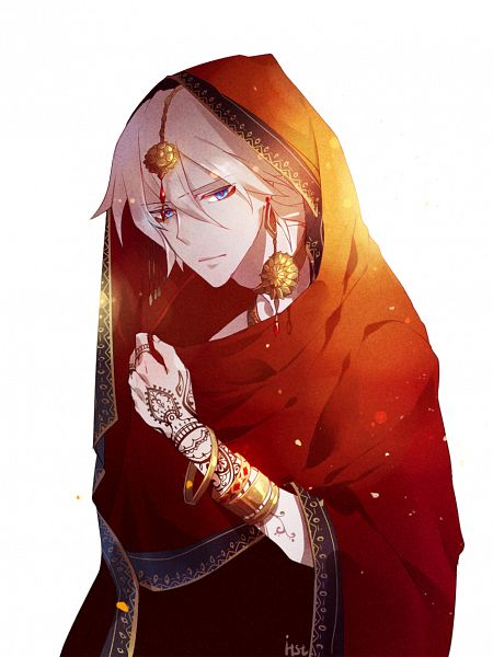 Tags: Anime, Goldprin, Fate/Apocrypha, Red Lancer, Henna Tattoo, Indian Clothes, Fanart, Mobile Wallpaper, Fanart From Pixiv, PNG Conversion
