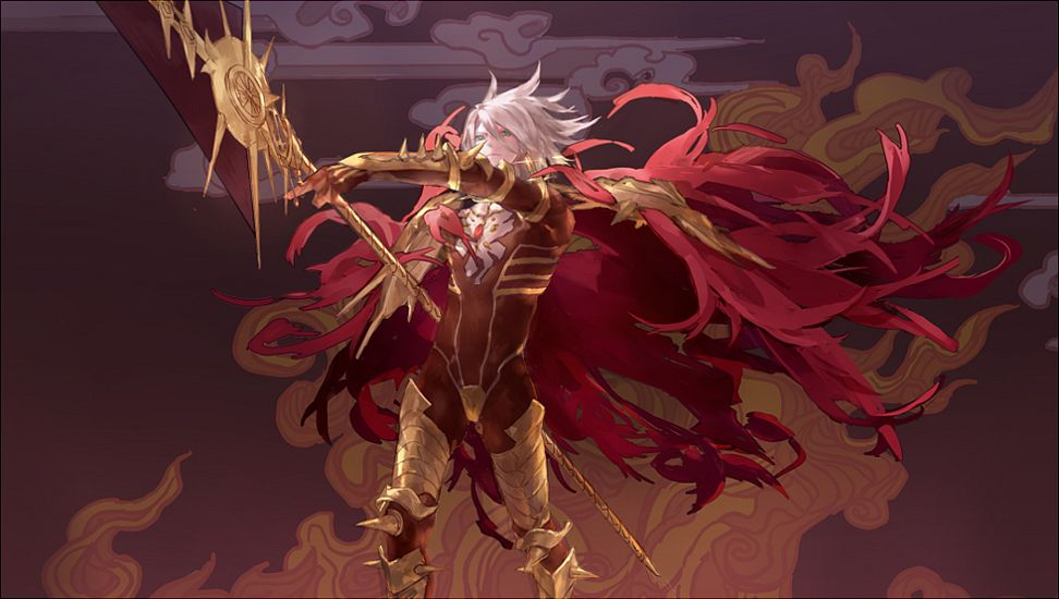Tags: Anime, Pixiv Id 3330287, Fate/Apocrypha, Red Lancer, Vasavi Shakti, Fanart, Fanart From Pixiv, Facebook Cover, PNG Conversion, Pixiv