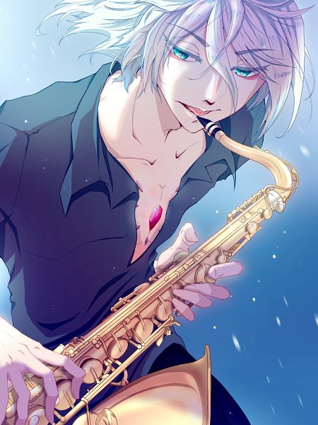 Tags: Anime, Pixiv Id 19322532, Fate/Grand Order, Red Lancer, Saxophone, Fanart From Pixiv, Pixiv, Fanart