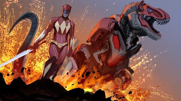 Tags: Anime, Nebezial, Power Rangers, Red Ranger, Reptile, Dinosaur, Fanart, Fanart From DeviantART, deviantART