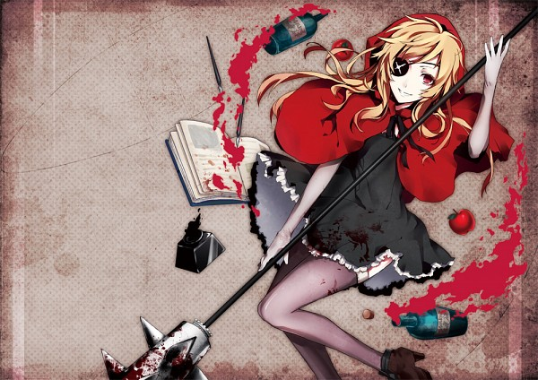 Tags: Anime, Arisaka Aco, Red Riding Hood, Red Riding Hood (Character), Ink, Spill, Pixiv, Original