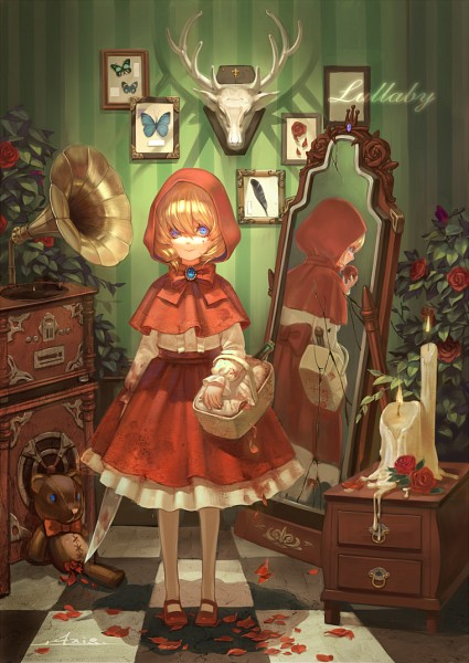 Tags: Anime, .Axis., Red Riding Hood, Red Riding Hood (Character), Different Reflection, PNG Conversion, Fanart, Mobile Wallpaper, Pixiv, Fanart From Pixiv