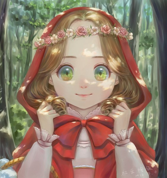 Tags: Anime, Pixiv Id 5488656, Red Riding Hood, Red Riding Hood (Character), Wreath, Fanart From Pixiv, Fanart, Pixiv