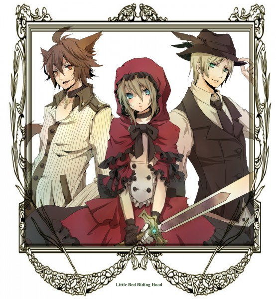 Tags: Anime, Senano Yu, Red Riding Hood, Red Riding Hood (Character), Huntsman (Red Riding Hood), Big Bad Wolf, Hunter, Pixiv