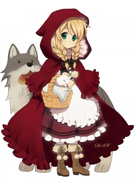 Tags: Anime, DAV-19, Red Riding Hood, Red Riding Hood (Character), Big Bad Wolf, Fanart, Fanart From DeviantART, deviantART, PNG Conversion