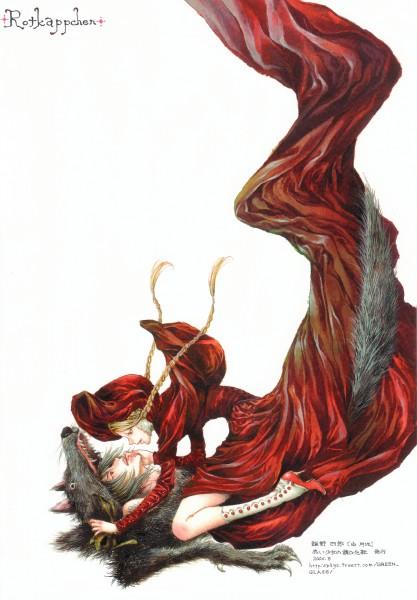 Tags: Anime, Tukiji Nao, Red Riding Hood, Red Riding Hood (Character), Big Bad Wolf, Mobile Wallpaper