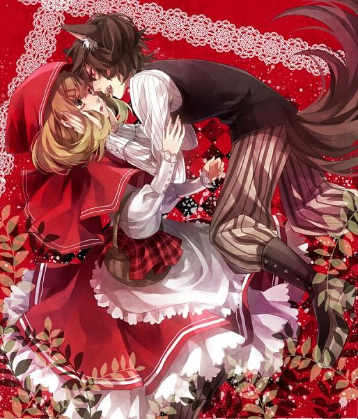 Tags: Anime, Yuzuki Karu, Red Riding Hood, Big Bad Wolf, Red Riding Hood (Character), Striped Pants, Pixiv, Original