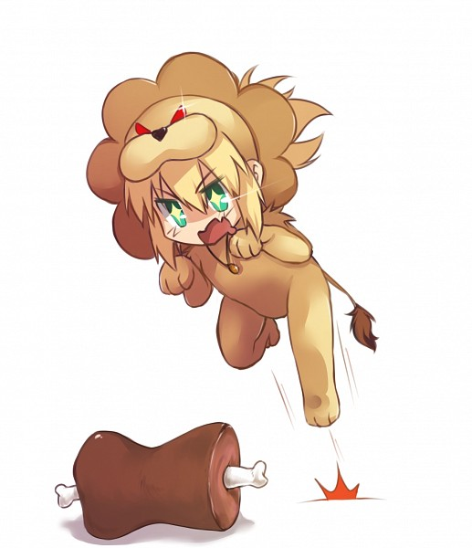 Tags: Anime, Ladymarta, TYPE-MOON, Fate/Apocrypha, Red Saber, Lion Costume, Meat