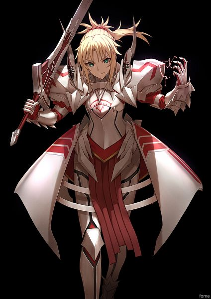 Tags: Anime, famepeera, Fate/Apocrypha, Red Saber, Clarent, Knight, Mobile Wallpaper
