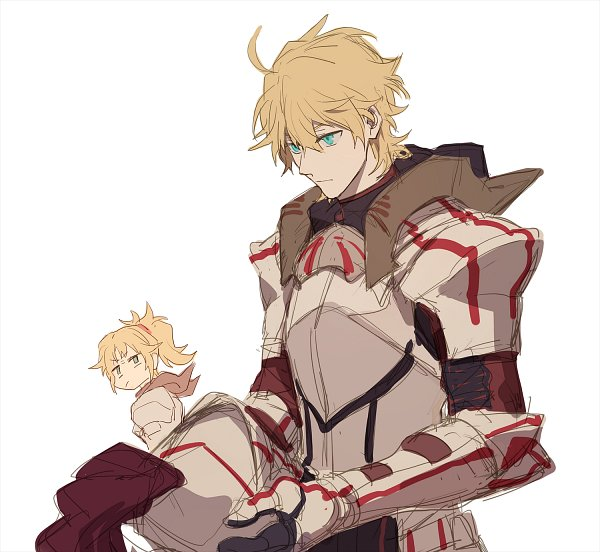 Tags: Anime, Arinbang, Fate/Grand Order, Red Saber, Fanart, Lofter, Sketch