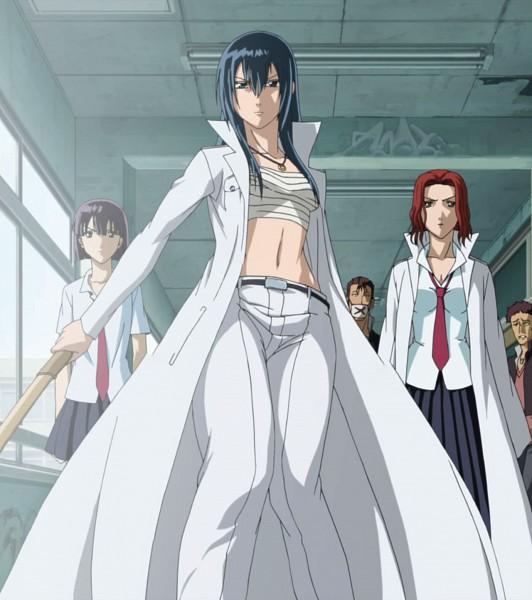 Tags: Anime, Beelzebub, Oomori Nene, Tanimura Chiaki, Kunieda Aoi, Yankee, Tokkoufuku, Screenshot, Red Tail