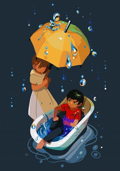 Tags: Anime, RedAkanekoCat, Yellow Umbrella, Pixiv, Original