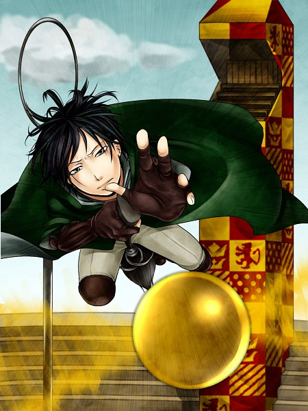 Tags: Anime, Pixiv Id 788477, Harry Potter, Regulus Black, Quidditch, Quidditch Uniform, Snitch, Slytherin House