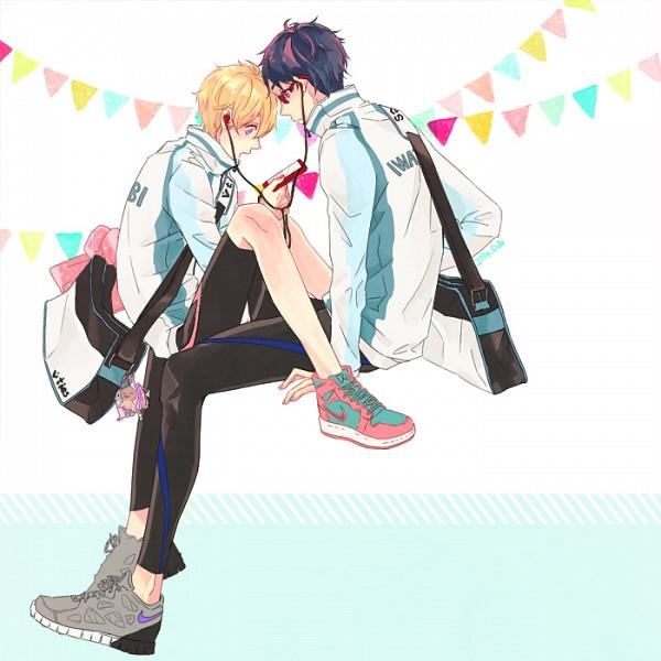 Tags: Anime, Pixiv Id 6234576, Free!, Ryuugazaki Rei, Hazuki Nagisa, iPod, Fanart From Pixiv, Pixiv, Fanart, ReiGisa