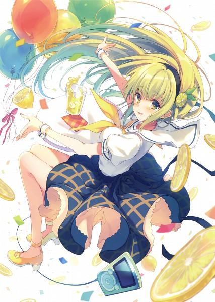 Tags: Anime, Reia (Artist), Himekuri 365 - 2017 Edition, Lemon, Lemonade, Music Player, Scan, Original