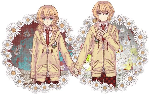 Tags: Anime, syuri22, VOCALOID, GUMI, Kagamine Len, Kagamine Rin, Rho (VOCALOID), Daisy (Flower), Pixiv, Reincarnated Girl and Reincarnated Boy, cosMo-p, Star Girl and the Illusory Musical Paradise