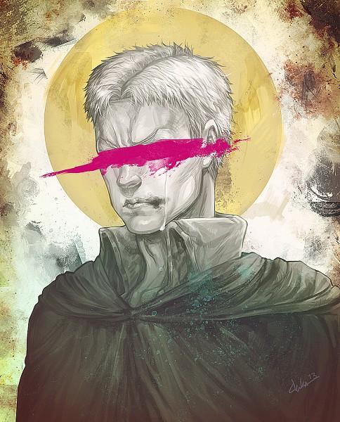 Tags: Anime, Pixiv Id 40337164, Attack on Titan, Reiner Braun, Green Cape, deviantART