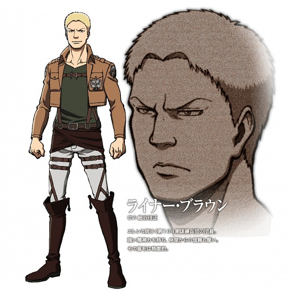 Tags: Anime, WIT STUDIO, Attack on Titan, Reiner Braun, Official Art, Cover Image, PNG Conversion
