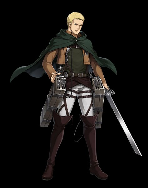 Tags: Anime, Fuji&gumi Games, Attack on Titan, Dare ga Tame no Alchemist, Reiner Braun, Multiple Weapons, Official Art