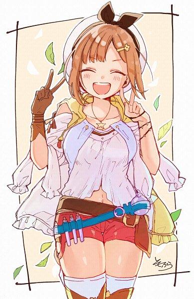 Tags: Anime, Pixiv Id 4169306, Atelier Ryza, Reisalin Stout, Double V, Fanart From Pixiv, Pixiv, Fanart