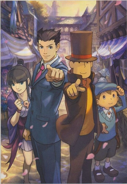 Reiton-kyouju vs Gyakuten Saiban (Professor Layton Vs. Ace Attorney) - Capcom