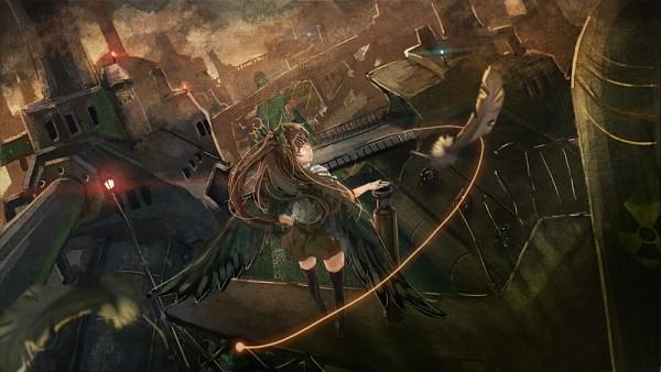 Tags: Anime, November (Artist), Touhou, Reiuji Utsuho, Cannon, Industrial, Contemporary, Arm Cannon, Fanart, Facebook Cover, Pixiv, Utsuho Reiuji