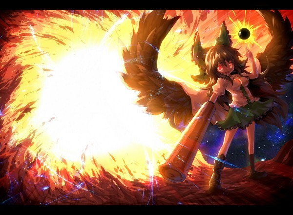 Tags: Anime, Ayakashi (Monkeypanch), Touhou, Reiuji Utsuho, Arm Cannon, Cannon, Utsuho Reiuji
