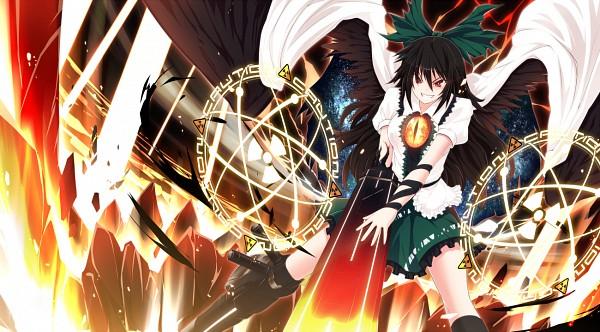 Tags: Anime, UGUME, Touhou, Reiuji Utsuho, Arm Cannon, Cannon, Fanart, Pixiv, Fanart From Pixiv, PNG Conversion, Utsuho Reiuji