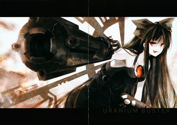 Tags: Anime, Tsurukame, Touhou, Reiuji Utsuho, Arm Cannon, Scan, Artbook Cover, Fanart, Utsuho Reiuji