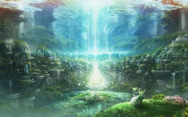 Tags: Anime, Rel, Waterfall, Pixiv, Original, Wallpaper