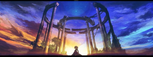 Tags: Anime, Rel, Stonehenge, Facebook Cover, Pixiv