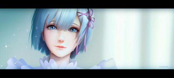 Tags: Anime, Huy Khờ, Re:Zero Kara Hajimeru Isekai Seikatsu, Rem (Re:Zero), PNG Conversion, deviantART, Revision, Pixiv, Facebook Cover, Fanart From DeviantART, Fanart, Fanart From Pixiv